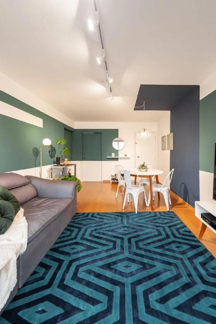 Foto de pintura setorizada em sala