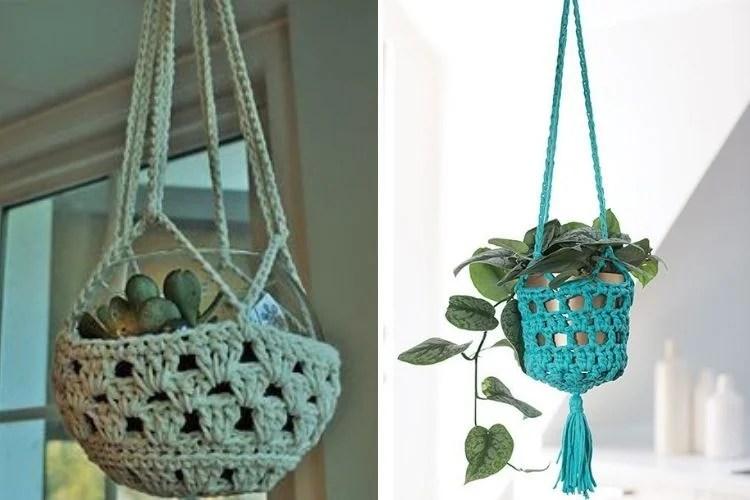 Montagem com duas fotos de suporte para plantas