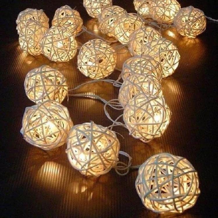 Foto de cordão de luz artesanal