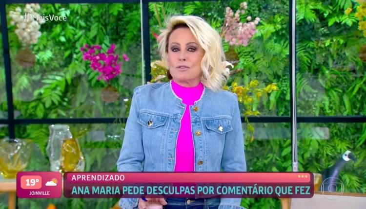 Ana Maria Braga pede desculpas no Mais Você