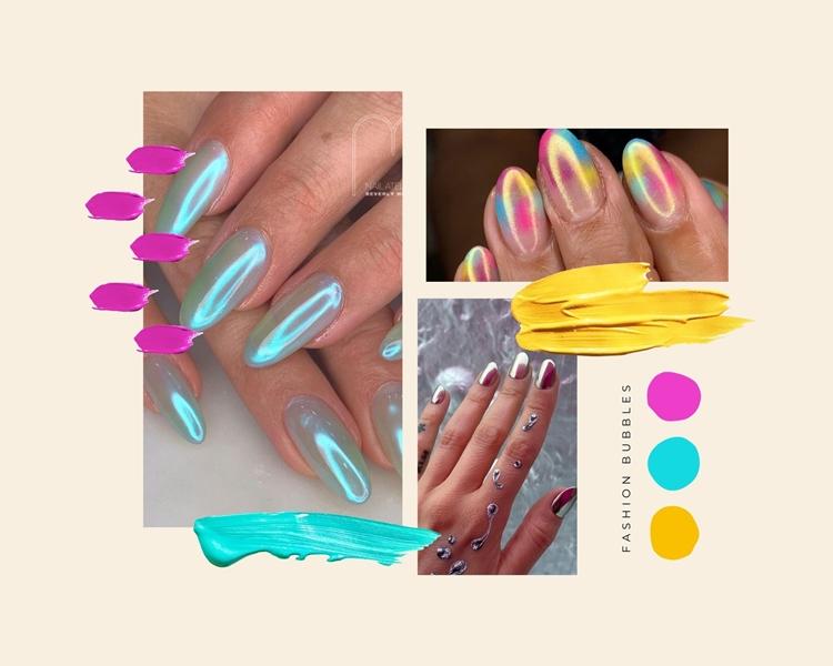 Foto de artes nas unhas: cromado.