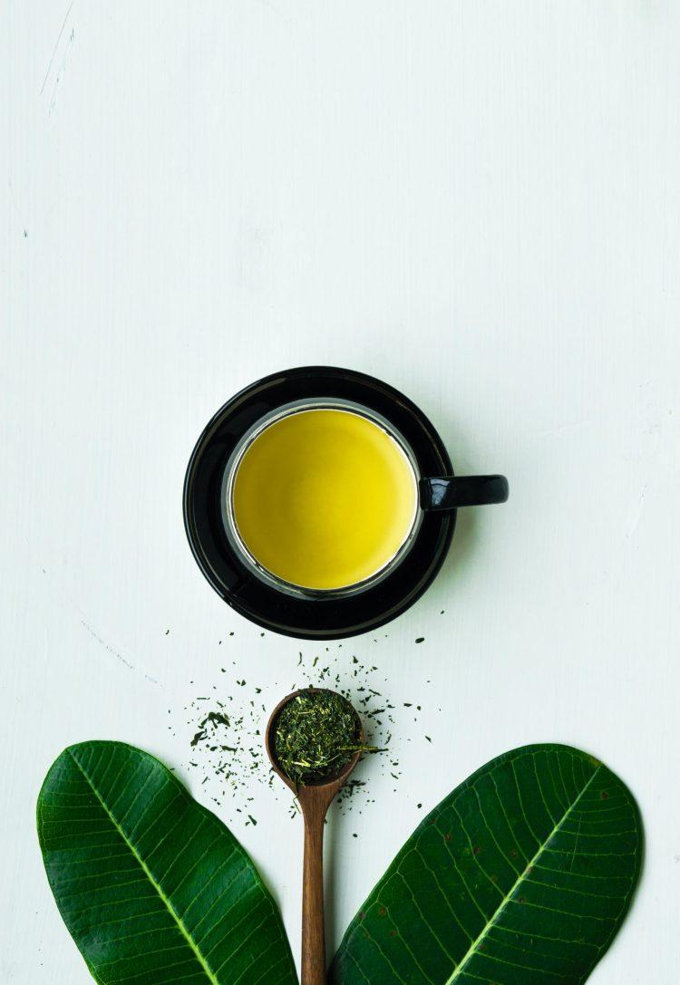 Chá verde.