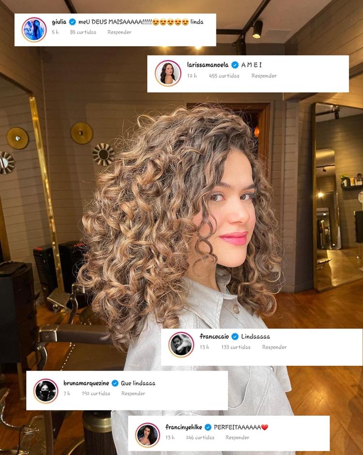 Foto de Maisa com tweets de famosos