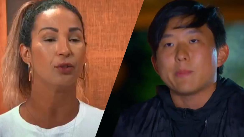 """Pyong levou dois votos de Valesca, sua """"aliada"""" no jogo. No entanto, Mirella e Laua foram para o Desafio de Sobrevivência do Ilha Record. Fonte: Reprodução/Record TV"""