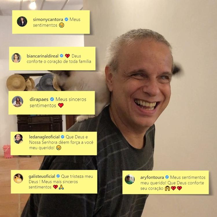 Foto de Dudu Braga e alguns comentários sobre sua morte.