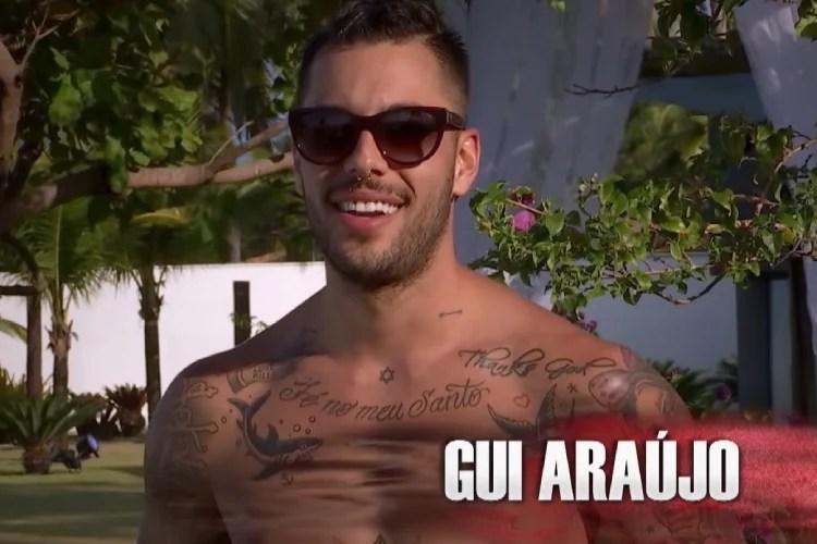 Gui Araújo, de A Fazenda 13, da Record TV, se relacionou com Gabi Brandt na casa do reality da MTV