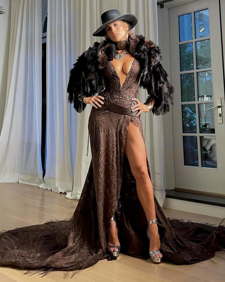 Foto de Jennifer Lopez no MET Gala 2021.