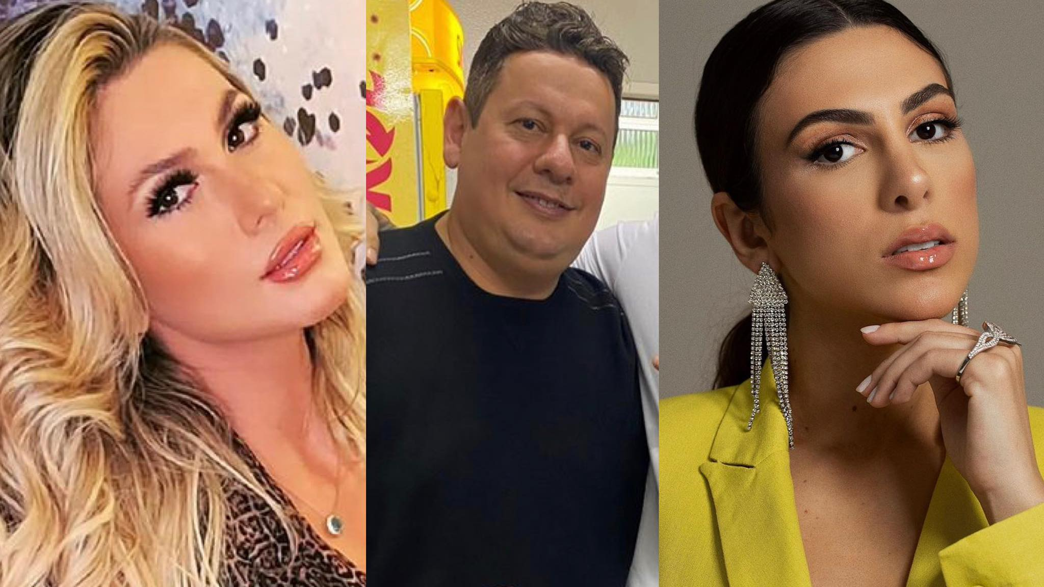 Pétala Barreiros, Marcos Araújo, Lívia Andrade