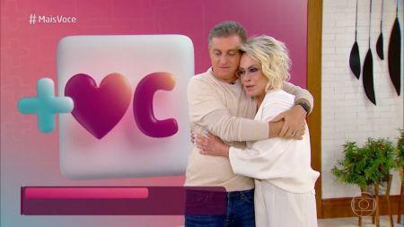 Luciano Huck comemora 50 anos no Mais Você no Ana Maria Braga. Fonte: Reprodução/ TV Globo
