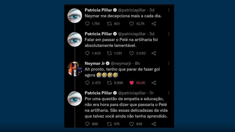 Neymar, Patrícia Pillar