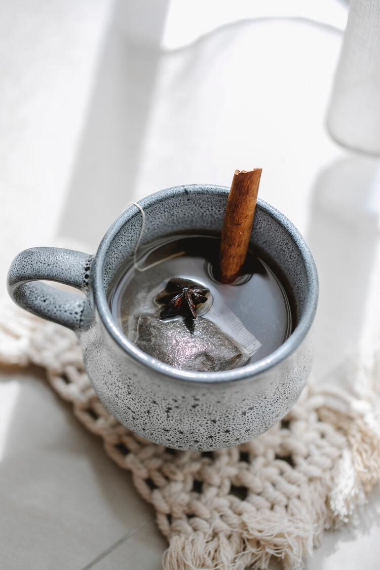 Chá de canela.
