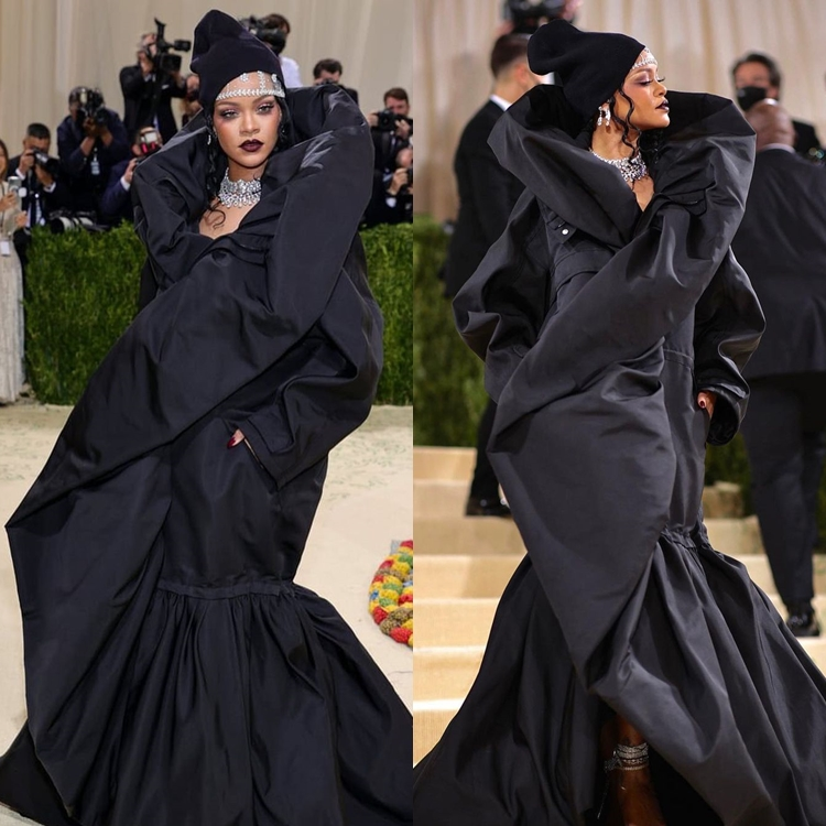 Foto de Rihanna no MET Gala 2021.