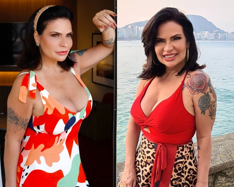 Fotos de Solange Gomes - A Fazenda 2021 tatuagens.