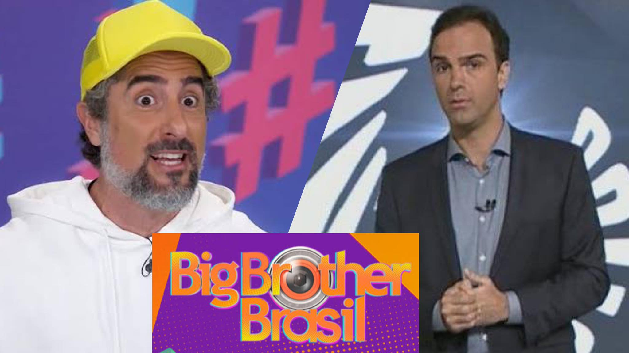 Tadeu Schmidt, Marcos Mion. BBB 22, Globo