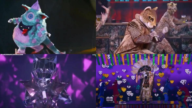 Monstro, Onça Pintada, Gata Espelhada e Boi Bumbá se enfrentaram no The Masked Singer Brasil da última terça-feira. 31 Fonte: Reprodução