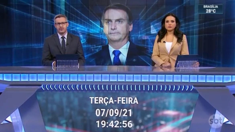 William Bonner, Jair Bolsonaro, SBT