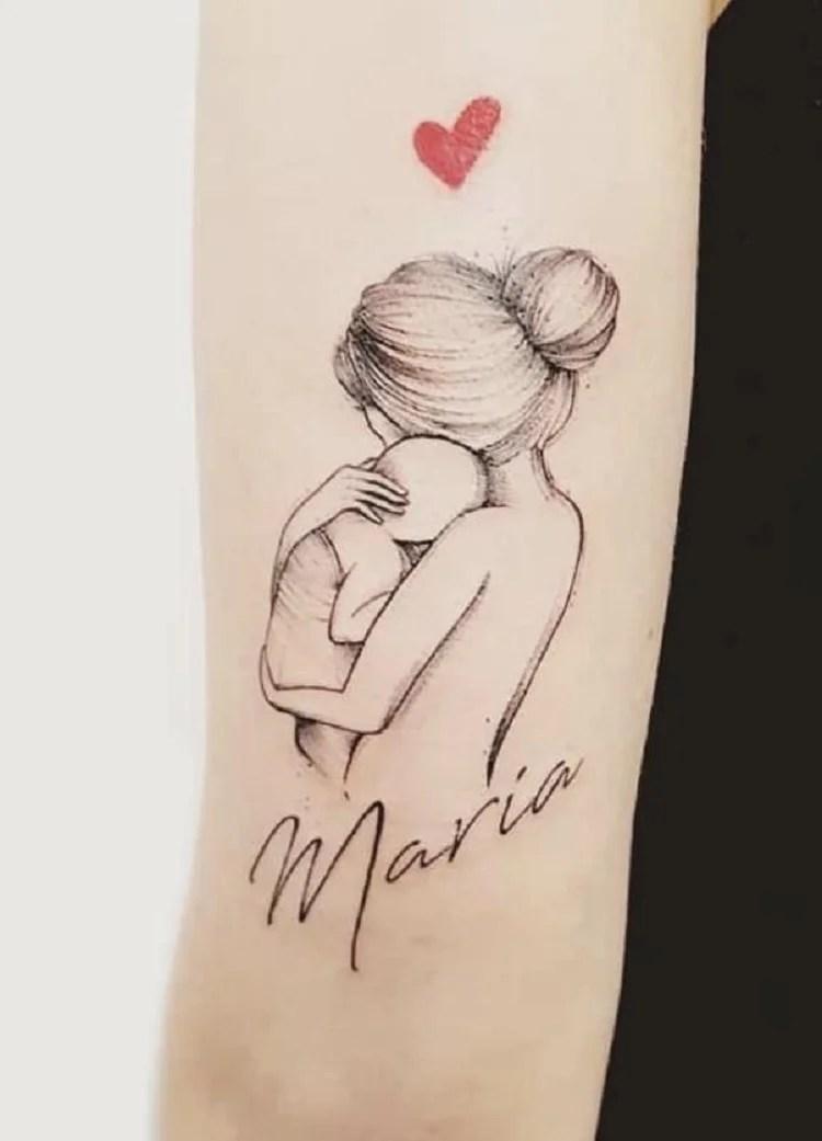 Tattoo em homenagem a filha
