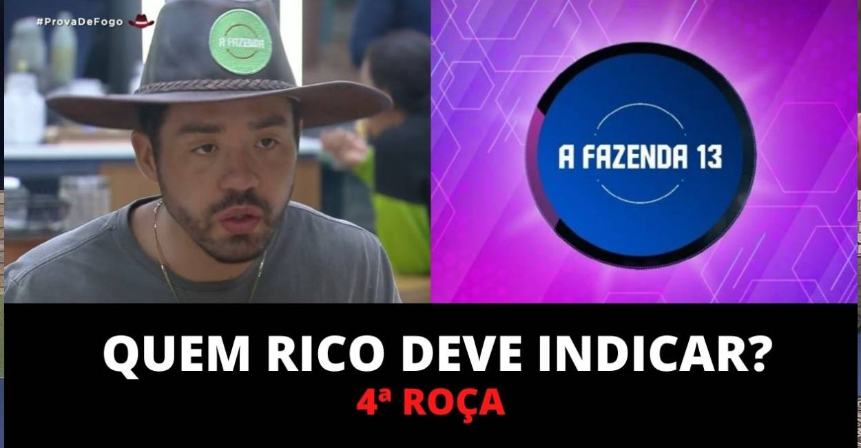 Enquete A Fazenda: Qual peão deve ser o indicado de Rico?