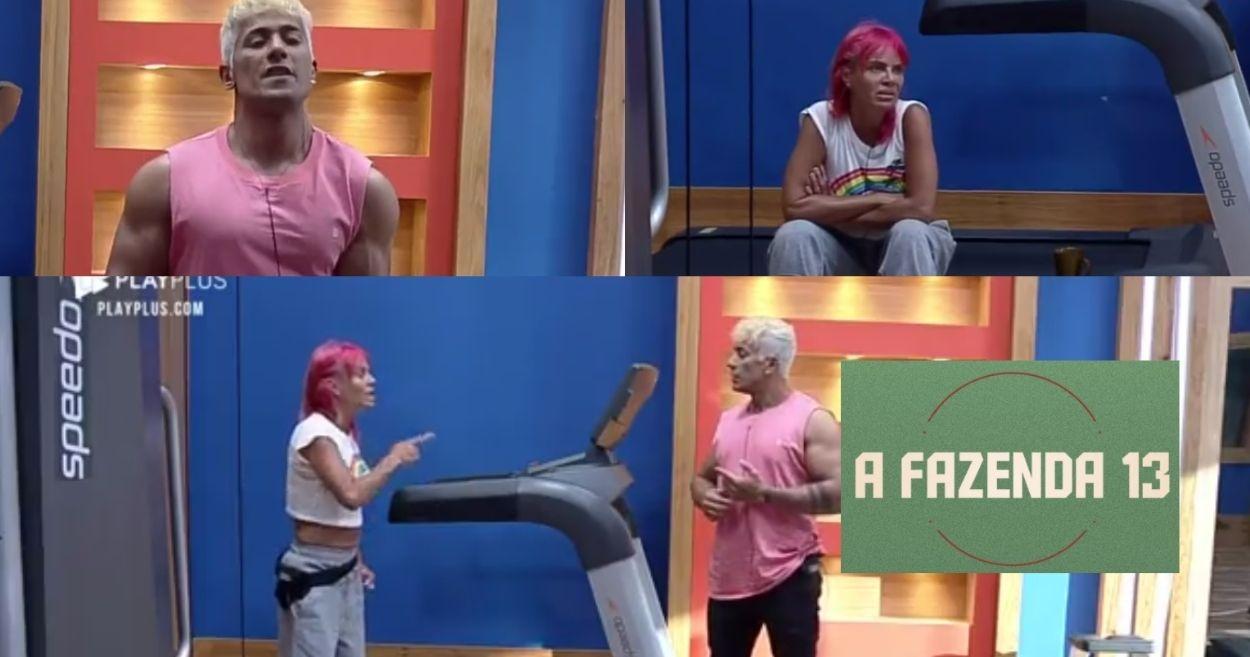 Valentina e Tiago conversam em A Fazenda sobre o game