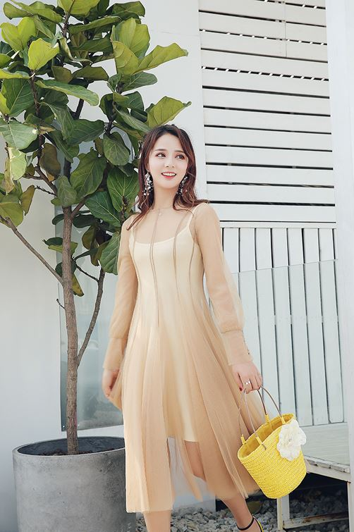Chic Apricot Dress | Mina – Twice