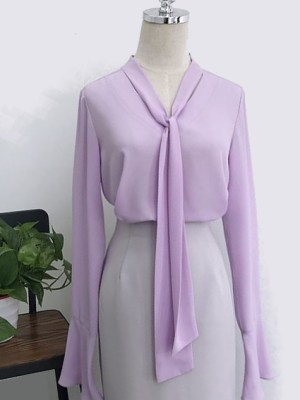 Lilac Blouse | Kim Mi So
