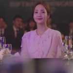 Pink Blouse with Fluffy Collar   Kim Mi So