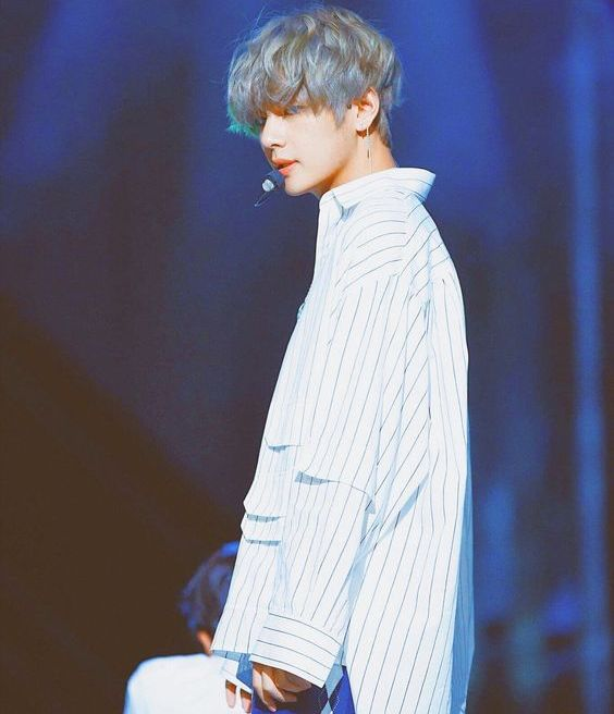 Striped Shirt with Bags   Taehyung – BTS