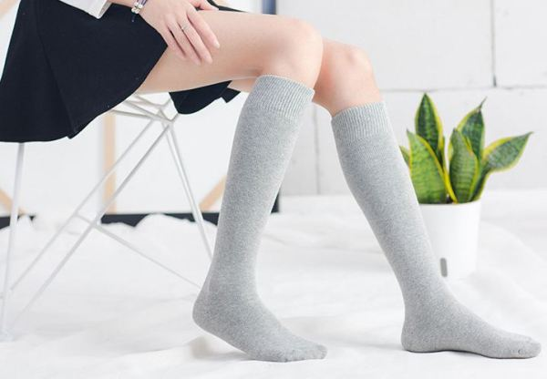 Grey Knee Socks | Hyuna