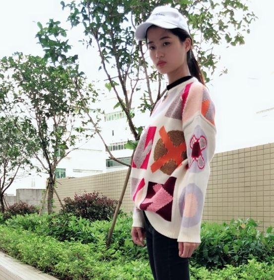 Patterned Wool Sweater| Jennie – Blackpink