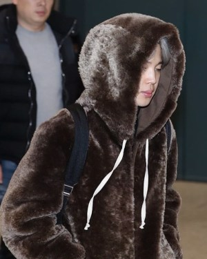 Brown Fluffy Hoodie | Jimin – BTS