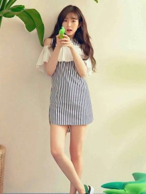 Striped Dress | Irene – Red Velvet