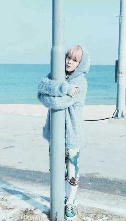Blue Fluffy Cardigan | Jimin – BTS