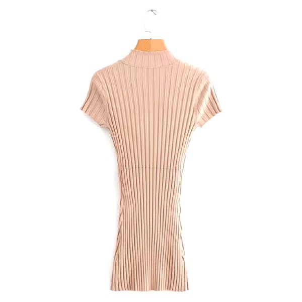Beige Button Dress   Rose – BlackPink