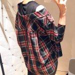 Red  Checkered Shirt Blouse | Irene – Red Velvet