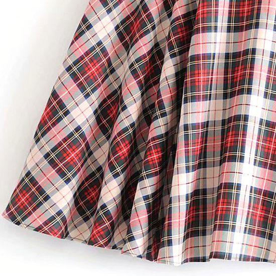 Plaid Skirt | Joy – Red Velvet