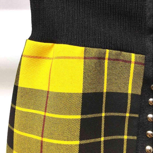Black Yellow Checkered Skirt | Jeongyeon – Twice