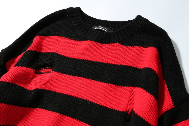 sweater, red, black, black and red, red and black