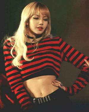 Red Black Striped Sweatshirt | Lisa – BlackPink