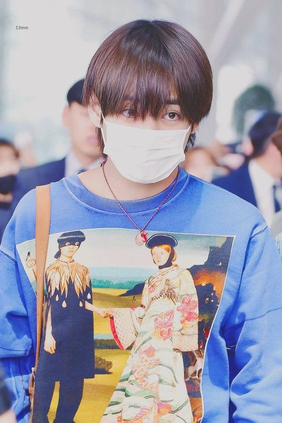 Taehyung Blue Sweater | BTS