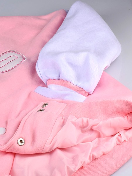 Happy Ever After Pink College Jacket | BTS