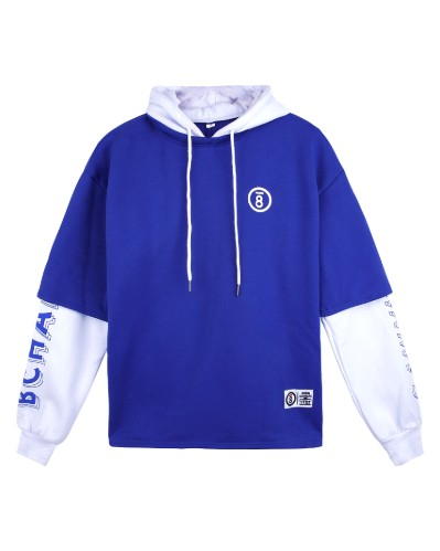 Blue Hoodie with white Sleeves | Suga – BTS