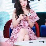 Red Floral Petals Off-Shoulder Ruffle Dress | Joy – Red Velvet