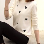 Beige Sweater With Black Hearts | Dahyun – Twice