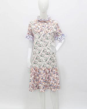 Hyuna Colorful Floral High Collar Dress (15)