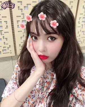 Colorful Floral High Collar Dress | Hyuna
