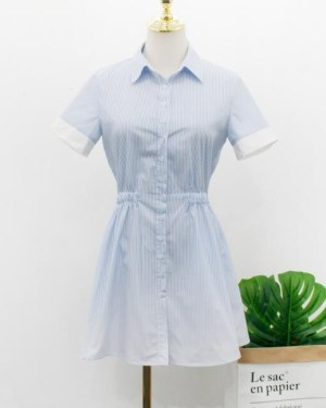 Jennie Blue White Gradient Dress (1)