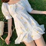 Fresh Cherry Print White Dress | Rose – BlackPink