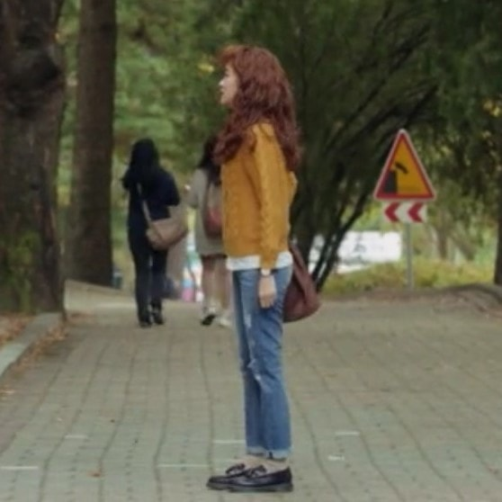 Cheese in the Trap Hong Seol Fashion Yellow Pullover Outfit
