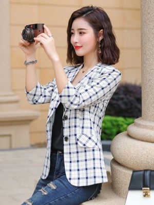 Hong Seol Plaid Suit Jacket Cheese in the Trap (2)