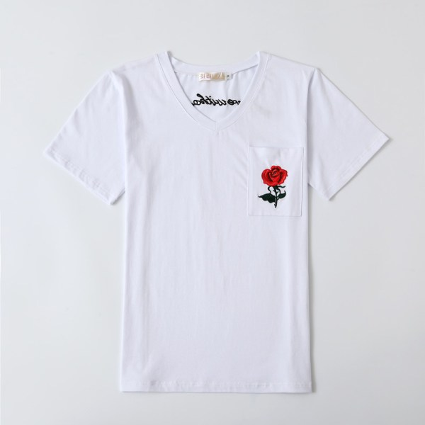 Red Rose White T-Shirt | Hyuna